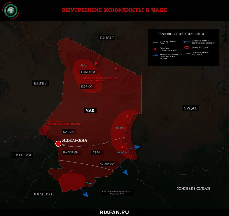 Внутренние конфликты в Чаде
